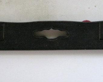Vintage Rosewood or Ebory Handcut Escutcheon Keyhole  FREE SHIPPING