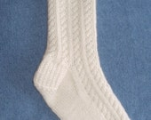 100 percent Mongolian CASHMERE Cable Socks - Ultimate Luxury - Sinfully Soft - Free USA Shipping - LAST Pair Available