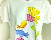 Sm to 3X Ladies Hand Painted Tee
