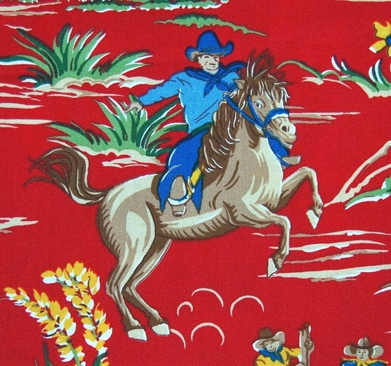 RESERVED  - Robert Kaufman Barn Dandy Hit the Trail fabric in red