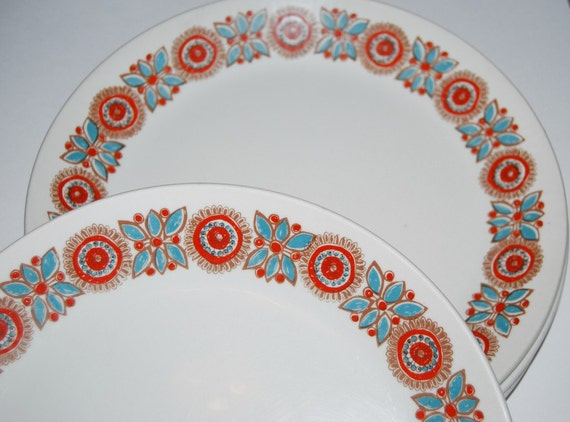 Figgjo Flint Scandinavian Norway 1970s Pottery Astrid 5 dinner plates  turi design