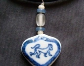 Blue Monkey Necklace