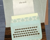 Typewriter Graduation Announcement for Kate