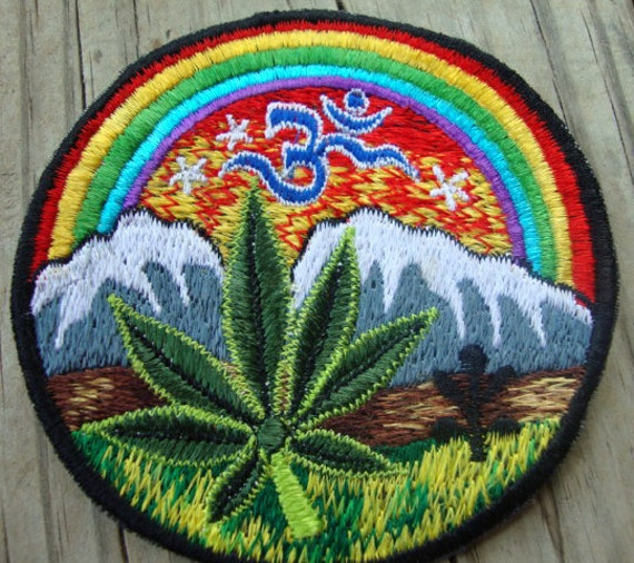 Leaf and Mountains Sew On Patch