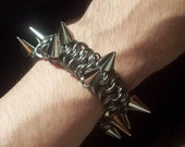 Spiked Steel Bracelet, Punk Isn't Dead....