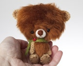 FREE SHIPPING Nemo  - miniature ooak teddy bear collectible toy -made to order-