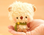 Teddy bear plushie toy in yellow - made to order - Timu -