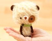Teddy bear plush toy / plushie bear / miniature doll / amigurumi - made to order - Milun