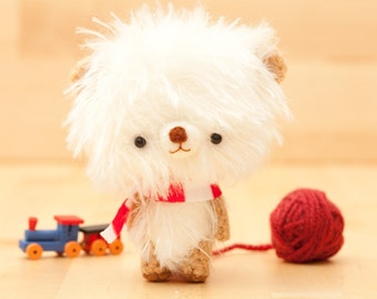 Bear doll plushie in white -made to order- Pumuki -