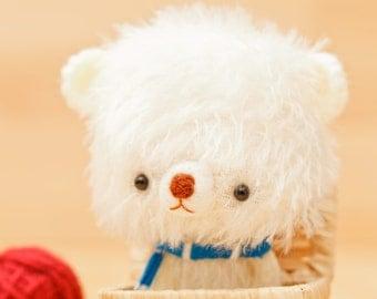 Plushie bear, polar softie  -made to order - Shiro -