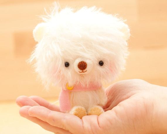 Amigurumi Pink Bear : Amigurumi bear in pink plush toy made to order Happy Pinu
