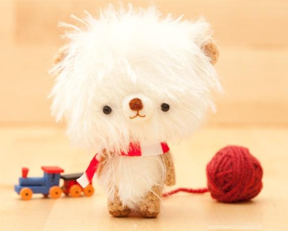 Bear doll plushie in white -made to order- Pumuki -