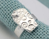 Silver Cupcake Ring