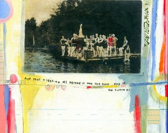POSTER PRINT - girls on the dock