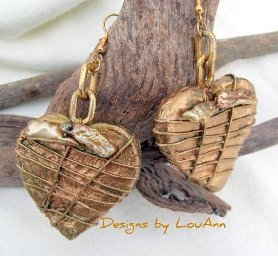 Golden Biwa Earrings