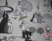 Reserved for danielle - 2.5 yards - 24.50 - The Ghastlies Fabric By Alexander Henry - Smoke - 1 Yard - 9.85 Dollars