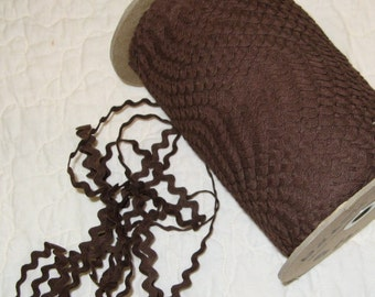 Vintage Cotton Ric Rac - Brown - 5 yards - 6.00 Dollars