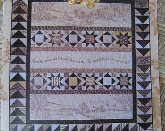 Over The River And Through The Woods.... Embroidery And Quilt Pattern - By Crab-Apple Hill - 10.80 Dollars