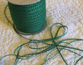 Vintage Green Picot (Loop) Braid - 10 Yards for 5 Dollars