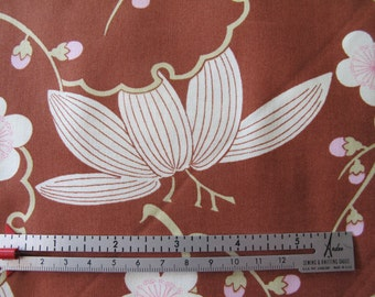 SALE - Midwest Modern - Trailing Cherry - by Amy Butler - Brown - 1 Yard - 6.95 Dollars