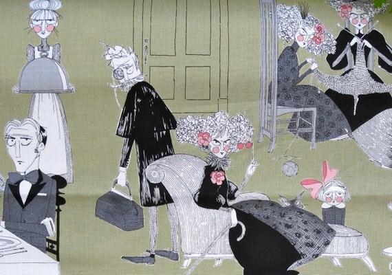 LAST 1/2 Yard - A Ghastly Night Fabric by Alexander Henry - Green - 4.90 Dollars