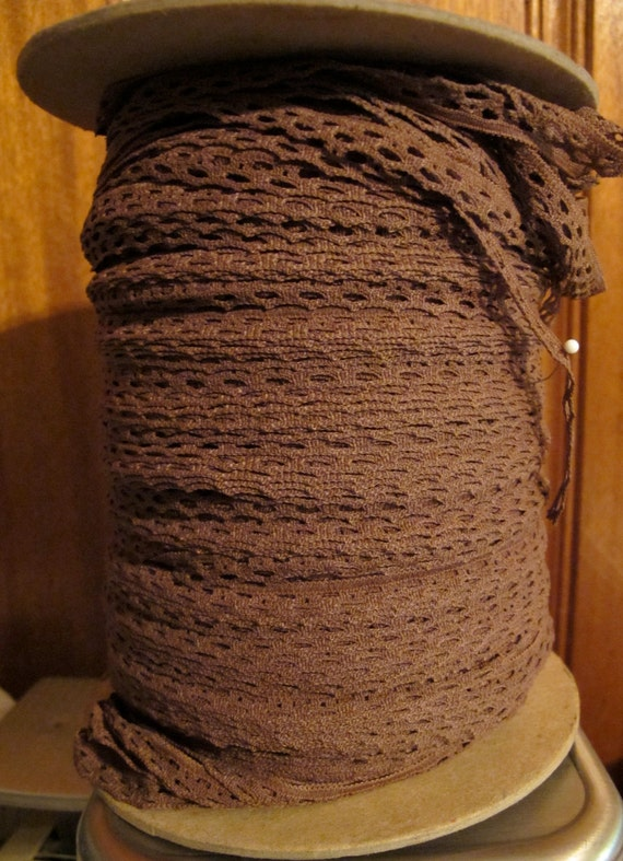 Roll of Mocha Lace - 14.00 for roll - Vintage from the 1980s