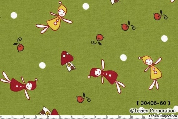 Reserved for sandy - 14 yards - 7 prints - 111.70 - Woodland Collection by Natalie Lymer for Lecien - Frolicking Fairies