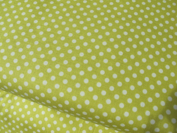 Reserved for karen - 1.75 yards - 12.75 - Green Polka Dots -Indian Summer - by Riley Blake - 7.75 per yard