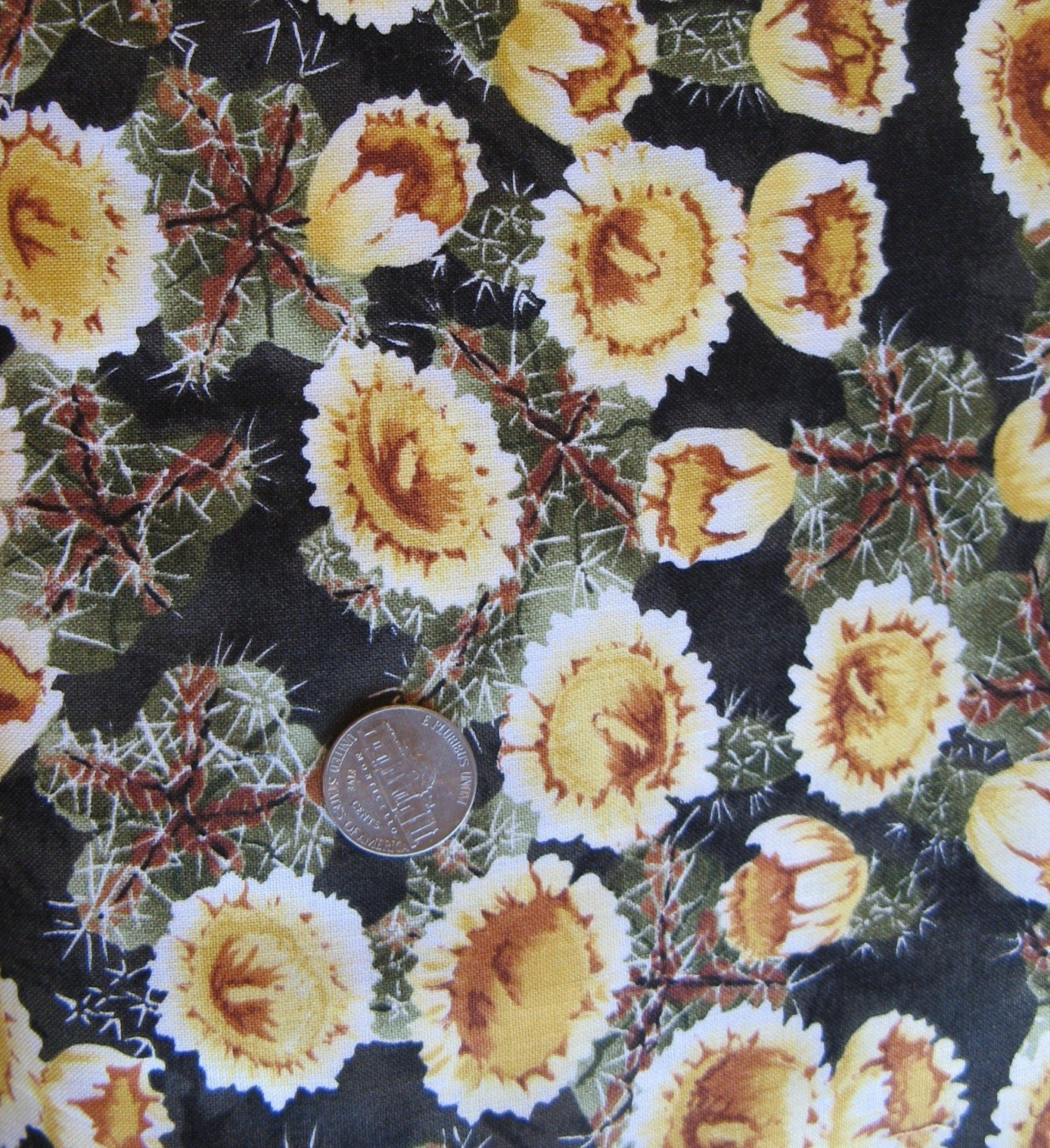 Saguaro Cactus Fabric State Flower of Arizona by thestockroom