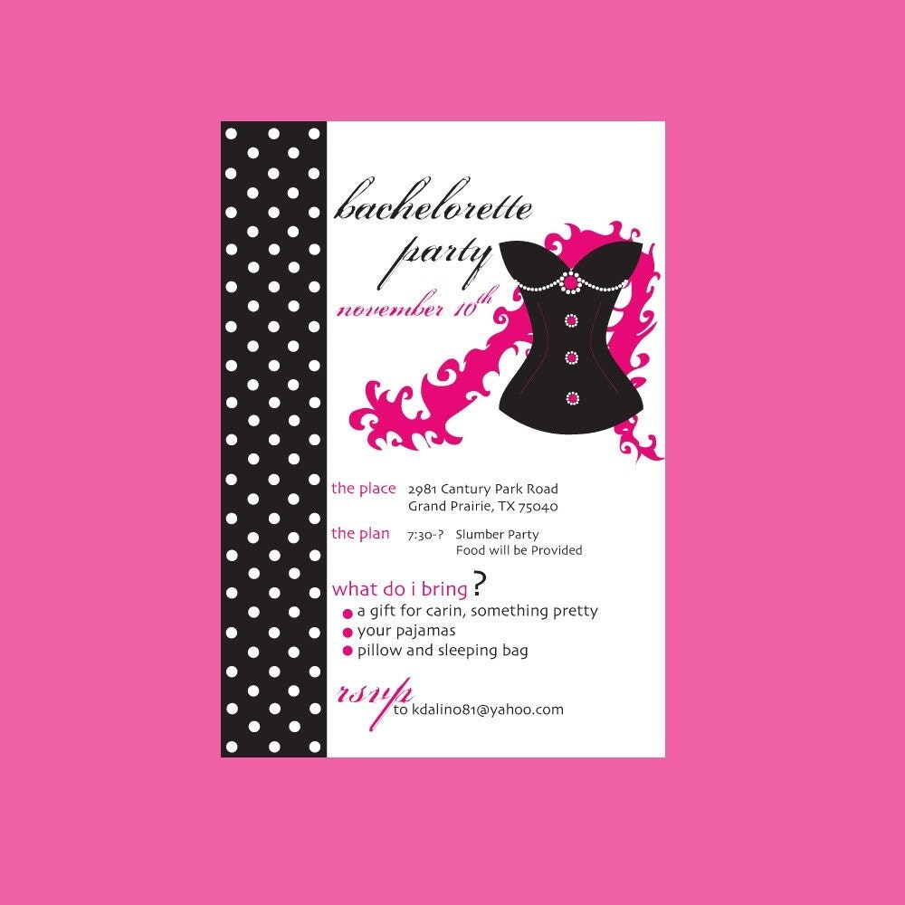 Custom Bachelorette Party Invitations SALE