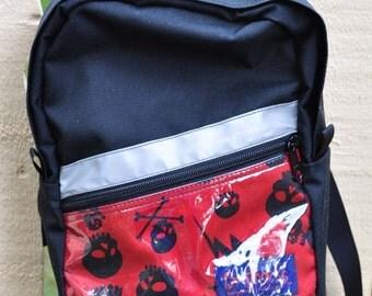 Toddler Backpack - black skulls