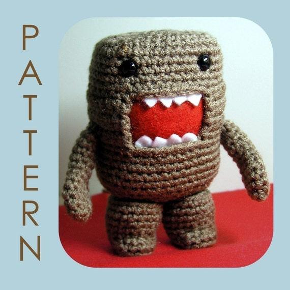 Domo-kun Amigurumi Crochet Pattern PDF