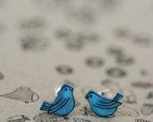 Blue Birds - Earring Studs