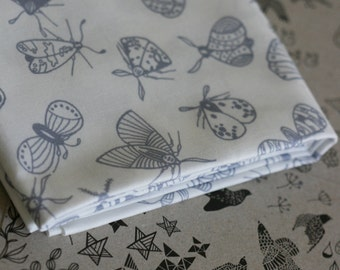 Moth Fabric - Grey - Small Piece