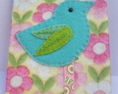 Fabric Journal cover and notebook/Journal- Birdie Range
