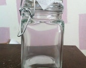 Large Square Glass Jars