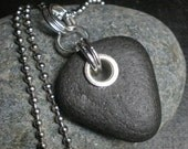 SALE - This Way Down - Genuine Beachstone Necklace