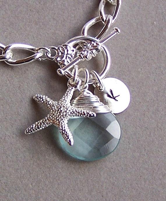 Personalized Bracelet Nautical Jewelry Ocean Theme Jewelry
