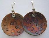 Copper Medallion Earrings