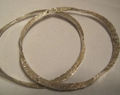 Forged Fine Silver Bangles (set of 2)
