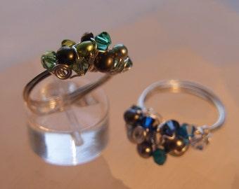 Gem Cluster Rings