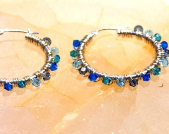 Largest Gem Hoop Earrings