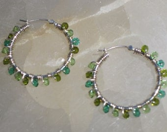 Largest Hoop Earrings in Green