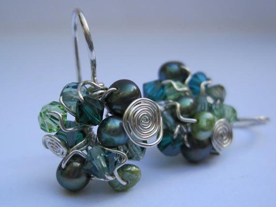 Gem Cluster Earrings