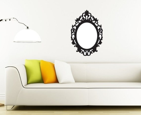 Vintage Oval Frame Wall Decal