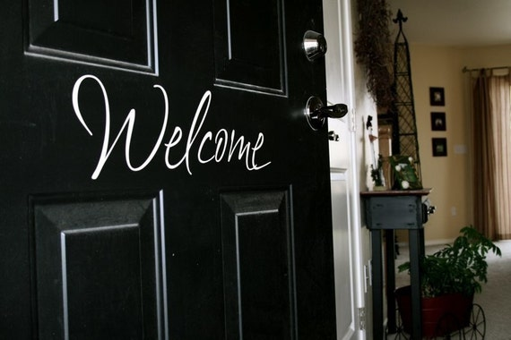 Welcome Front Door Saying