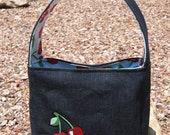 Custom Listing for LHSblack-Fun Cherry bag with zip top