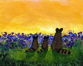 RACCOON baby ACEO Folk Art PRINT Todd Young painting
