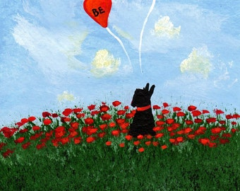 Scottie Dog BE MINE Valentine Limited Edition reproduction Print of Todd Young painting