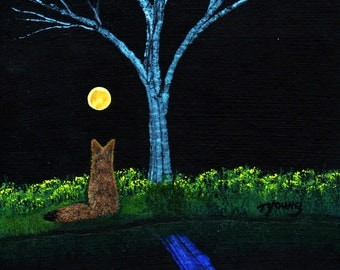 Coyote REFLECTION limited edition reproduction art print by Todd Young painting